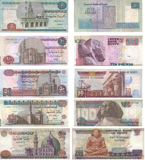 Деньги Египта: банкноты