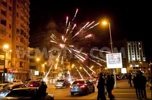 Празднование Нового года на улице в Александрии